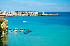 Otranto harbor Royalty Free Stock Images