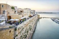 Otranto hermoso por el mar adriático, Italia Foto de archivo libre de regalías