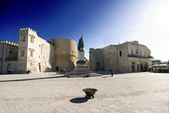 Otranto - Heroes Square. Monument and square commemorating the heroes killed by the Turks in 1480 Royalty Free Stock Photography