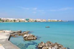 Otranto, puglia. Mediterranean landscape, the coast of Puglia stock image