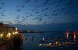 Otranto Seehafen Stockfotografie