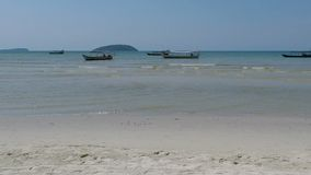 Otres beach in cambodia. Natural tropical beach in otres in cambodia stock video