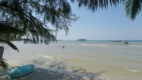 Otres beach in cambodia. Natural tropical beach in otres in cambodia stock video footage