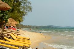 Otres-Strand, Sihanoukville, Kambodscha lizenzfreie stockfotos