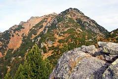 Otrhance bergskedja i höstZapadne Tatry berg Arkivbild