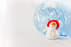 Otro muñeco de nieve feliz Fotografía de archivo libre de regalías