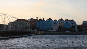 Otrobanda Curacao. Otrobanda seen from Punda at the end of the day Royalty Free Stock Image