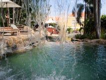 Otrobanda hotel waterfall Royalty Free Stock Images