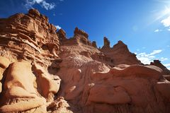 otrolig dal för amerikansk för beskärningsprärier för elakt troll naturlig röd skulptur för sandsten Royaltyfri Foto