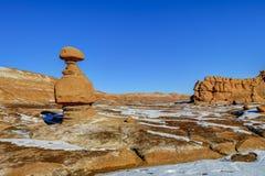 otrolig dal för amerikansk för beskärningsprärier för elakt troll naturlig röd skulptur för sandsten Royaltyfria Bilder