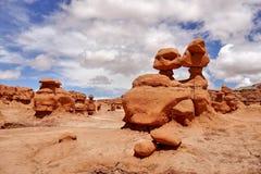 otrolig dal för amerikansk för beskärningsprärier för elakt troll naturlig röd skulptur för sandsten Royaltyfri Fotografi