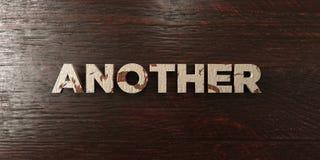 Otros - título de madera sucio en arce - 3D rindieron imagen común libre de los derechos stock de ilustración