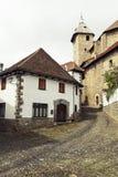 Otsagabia / Ochagavia. Navarra. Otsagabia street. Touristic village in Navarre Stock Images
