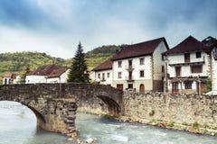 Otsagabia / Ochagavia. Picturesque town in northern Navarra. Spain Royalty Free Stock Image