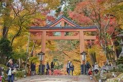 Beautiful fall color of Hiyoshi Taisha. Otsu, NOV 23: Beautiful fall color of Hiyoshi Taisha on NOV 23, 2017 at Otsu, Shiga, Japan Royalty Free Stock Image