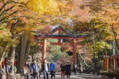 Beautiful fall color of Hiyoshi Taisha. Otsu, NOV 23: Beautiful fall color of Hiyoshi Taisha on NOV 23, 2017 at Otsu, Shiga, Japan Stock Photo