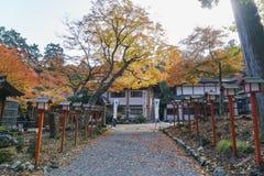 Beautiful fall color of Hiyoshi Taisha. Otsu, NOV 23: Beautiful fall color of Hiyoshi Taisha on NOV 23, 2017 at Otsu, Shiga, Japan Royalty Free Stock Photography
