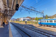 Otsuki Station in Yamanashi, Japan Royalty Free Stock Images
