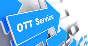 OTT Service.  Information Technology Concept. Royalty Free Stock Photography