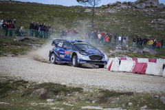 Ott Tanak, WRC, Ford Fiesta WRT Royalty Free Stock Photos