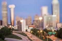 Otta för Atlanta georgia stadshorisont med lutandeeffekt Fotografering för Bildbyråer