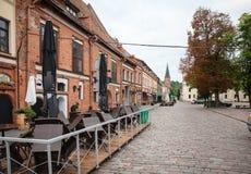 Otta på gatorna av Kaunas den gamla staden Royaltyfria Foton