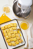 �ottage cheese  semolina cake Royalty Free Stock Photos