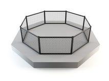 Ottagono di combattimento della gabbia Immagini Stock Libere da Diritti