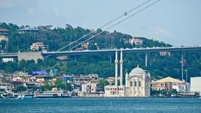 Ottakoy Mecidiye清真寺看法在伊斯坦布尔 库存图片