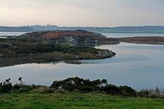 Ottalandskap, fyra mil bro, Anglesey Arkivfoton
