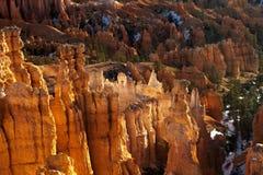 Ottaljus på Bryce Canyon National Park Arkivbild