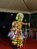 Ottamthullal. Is a art form Kerala, India.  was introduced in the 1700s by Kunchan Nambiar, The famous Malayalam poet Stock Photos