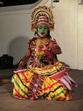 Ottamthullal eine Kerala-Kunstform, Indien Lizenzfreies Stockfoto