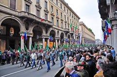 ottantaquattresimo Raccolta nazionale di Alpini a Torino, Italia Fotografie Stock