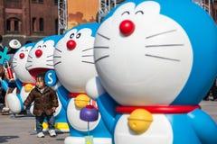 ottantesimo anniversario Doraemon Fotografia Stock Libera da Diritti