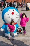ottantesimo anniversario Doraemon Fotografie Stock Libere da Diritti