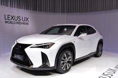 ottantottesimo salone dell'automobile internazionale di Ginevra 2018 - Lexus UX immagine stock libera da diritti