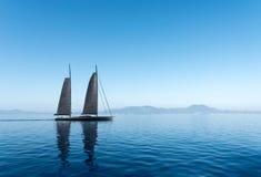 Ottasegelbåt Fotografering för Bildbyråer