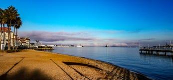 Ottastrandsikt från den Coronado ön, Kalifornien arkivfoto