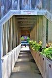 Ottauquechee足迹, Quechee村庄,哈特福德,温莎县,佛蒙特,美国镇  免版税库存照片
