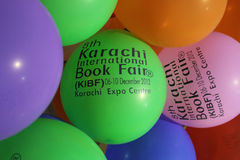 ottavi Fiera di libro internazionale di Karachi fotografie stock