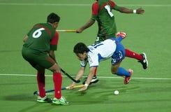 ottavi Tazza dell'Asia degli uomini Giappone 2009 contro la Bangladesh Fotografia Stock