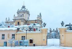 OttavinterSt George Cathedral i Lviv, Ukraina Royaltyfria Bilder