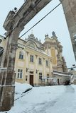 OttavinterSt George Cathedral i Lviv, Ukraina Royaltyfri Bild