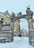 OttavinterSt George Cathedral i Lviv, Ukraina Arkivfoton