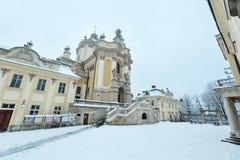 OttavinterSt George Cathedral i Lviv, Ukraina Royaltyfri Foto