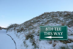 ottavo T questo segno di modo su un terreno da golf Immagine Stock Libera da Diritti