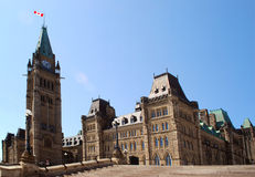 Ottawa. Parliament Buildings view, , Canada Royalty Free Stock Photography