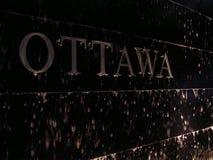 Ottawa alla notte Fotografia Stock Libera da Diritti