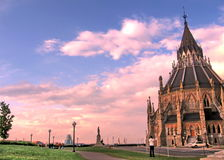 Ottawa arkivet av den kanadensiska parlamentet Maj 2008 Royaltyfria Bilder